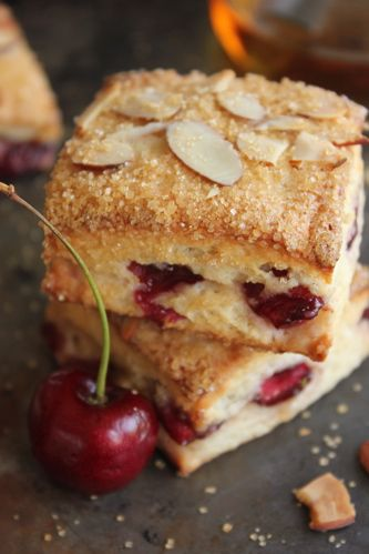 Cherry Marzipan Scones