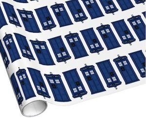 doctor who wrapping paper