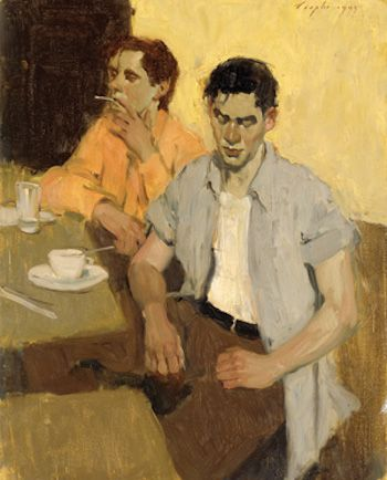 Two Men Waiting | Malcolm T. Liepke | The Emotional Connection in Figure Paintings | Artist Daily | Oil Painting