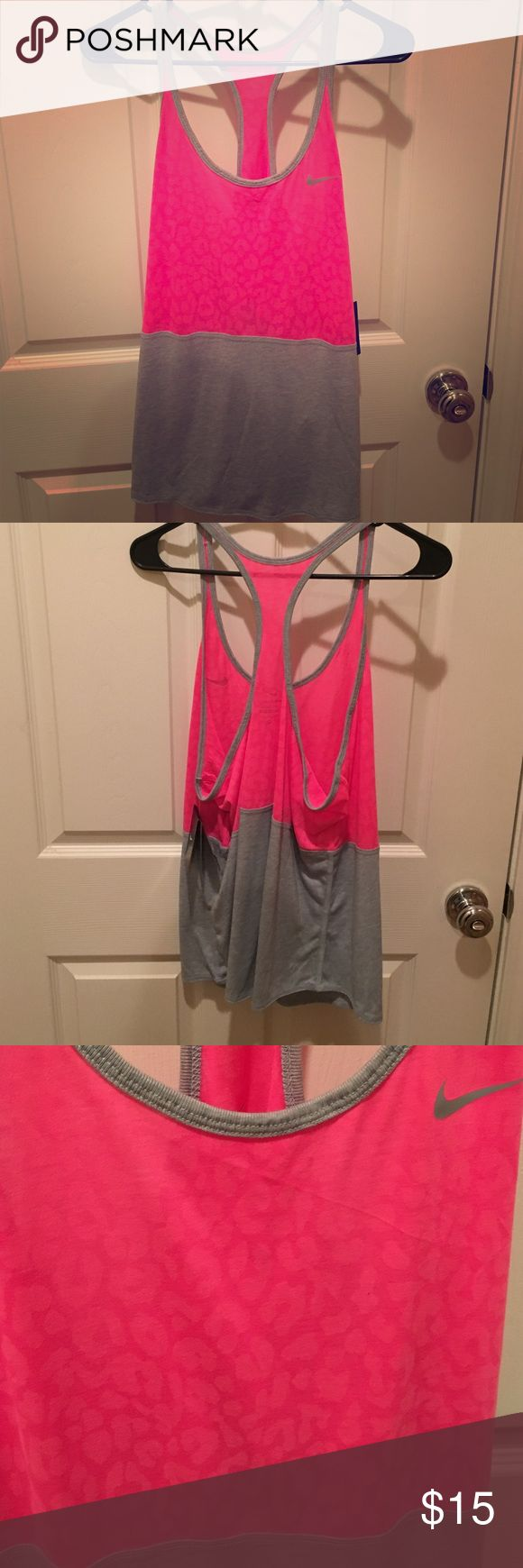 🆕 Nike leopard print tank Dri-fit tank. New with tags. Pink has leopard print Nike Tops Tank Tops