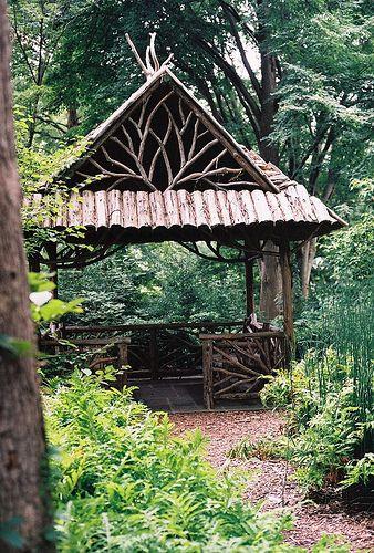 rustic gazebo or pavilion