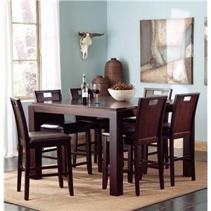 Prewitt Contemporary 7 Piece Counter Height Table and Chair Set by Coaster - Nastasi's Furniture - Pub Table and Stool Set