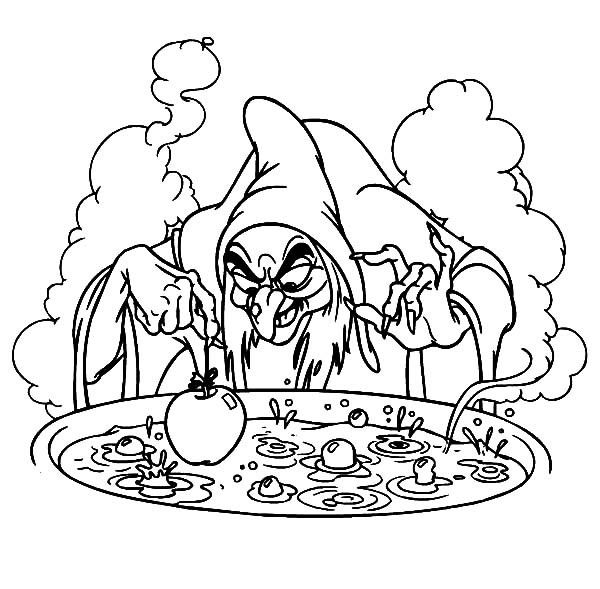 Witch, : Witch Big Pot of Poison Coloring Pages | Holidays ...