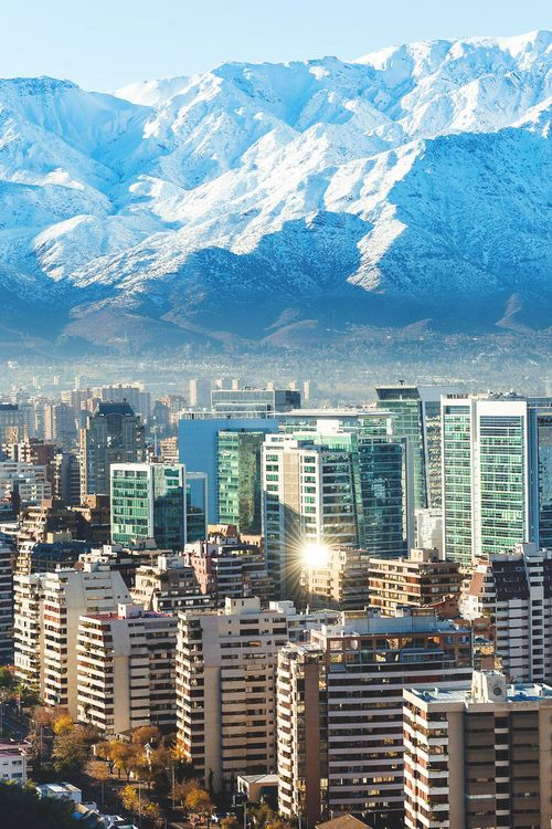 Santiago, Chile: the capital & largest city of Chile: located in the country's central valley, at an elevation of 1700' | Pablo Rogat