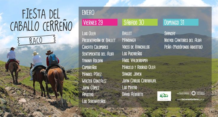 Fiesta del Caballo Cerreño - Raco - Ente Tucumán Turismo