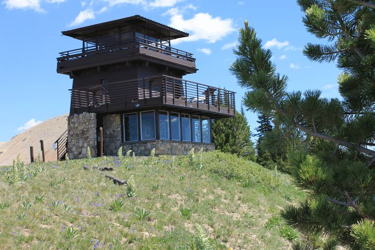 Clay butte lookout tower beartooth highway bike routes for Fire tower plans
