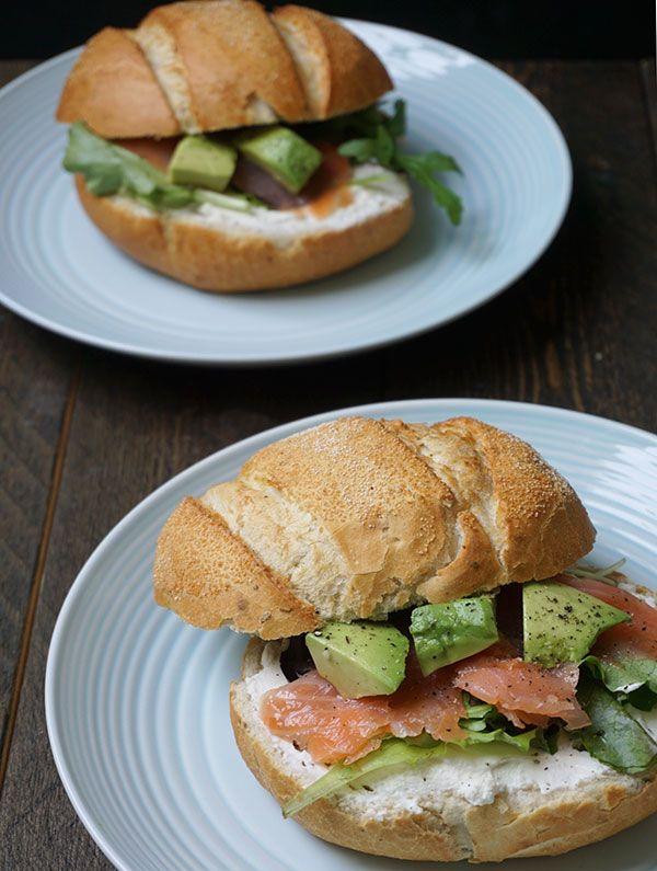 LUNCH: broodje gerookte zalm en ricotta - Great Little Kitchen