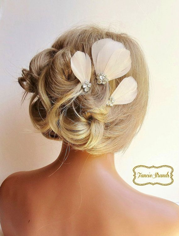 Bridal Hair Fascinator Wedding Headpiece par FancieStrands sur Etsy