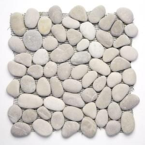 Solistone River Rock Brookstone 12 in. x 12 in. Natural Stone Pebble Mosaic Floor and Wall Tile (10 sq. ft. /case)-6001 at The Home Depot