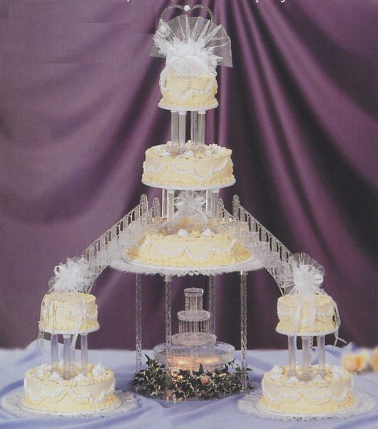 Fountain cake stands wedding cakes
