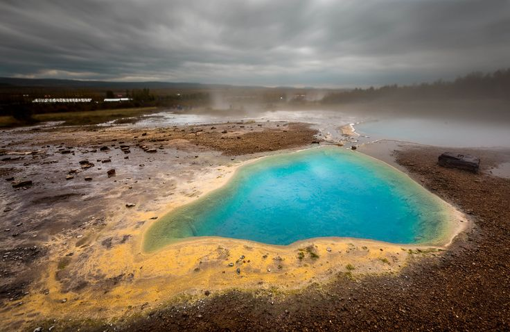 Beautiful hot spring