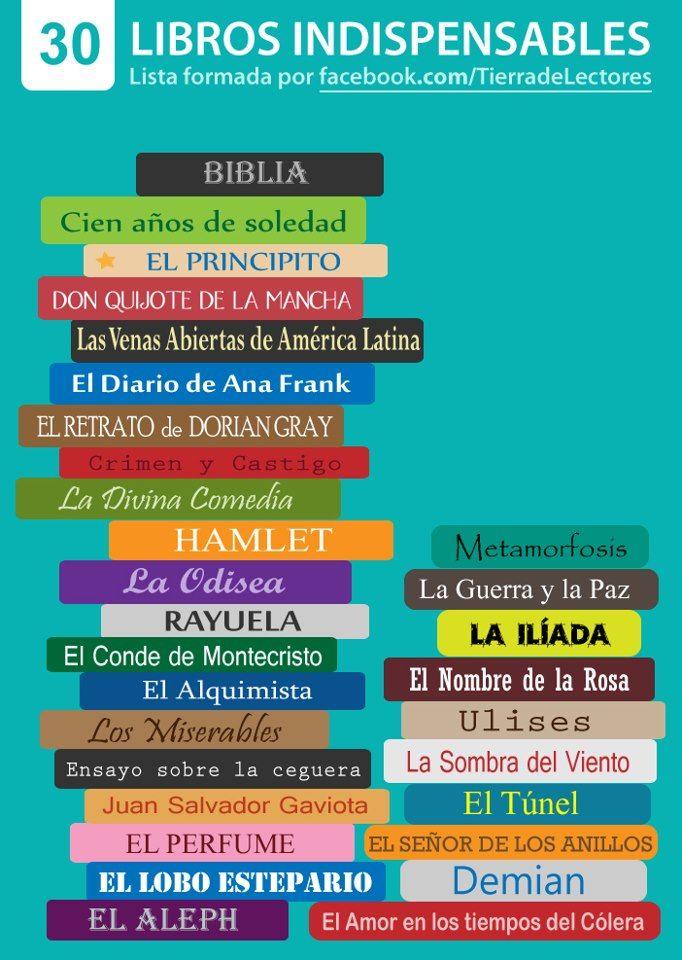 Biblioteca Escuela Intermedia Nueva: Los 30 libros que debes leer y Facebook me los sugirió