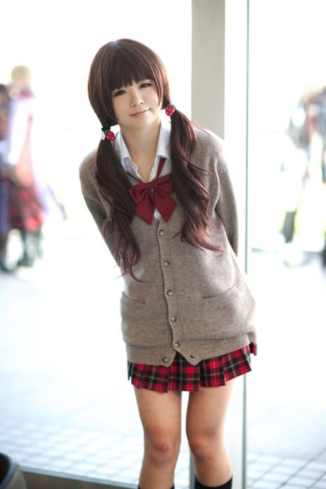 hair and uniform <3
