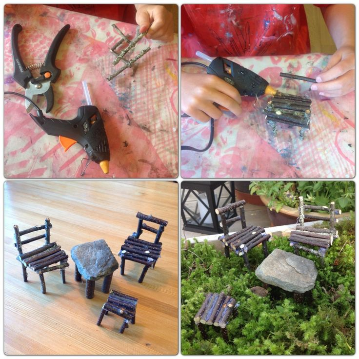 DIY - fairy garden furniture