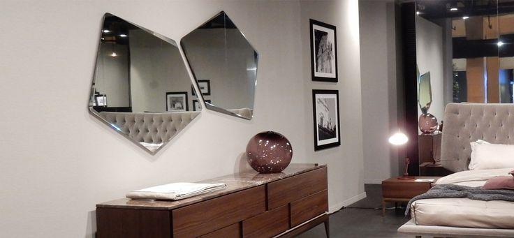 The sharp angles and distinctive shape of the Chocolat mirror adds a touch of dynamism and individualism to your home. The irregular shapes allow you to create your own visual masterpiece by combining geometric shapes into a one-of-a-kind pattern. #Mirrors #DesignerAccessories #ItalianInteriors