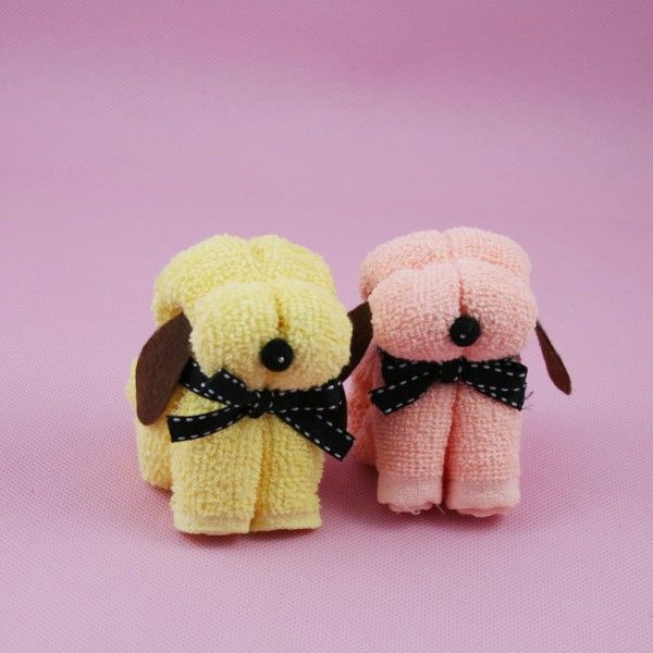 Picture Collection Website Couple Dog Towel Folding Look on YouTube for tutorial