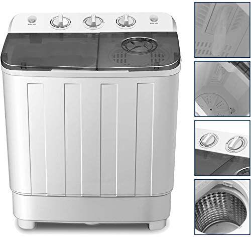 Buy 4-EVER Portable Washing Machine 17lbs Compact Twin Tub ...