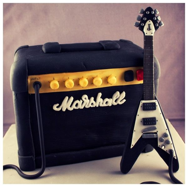 Marshall Amp & Flying V Guitar Birthday Cake by Andrea Hillman, via Behance