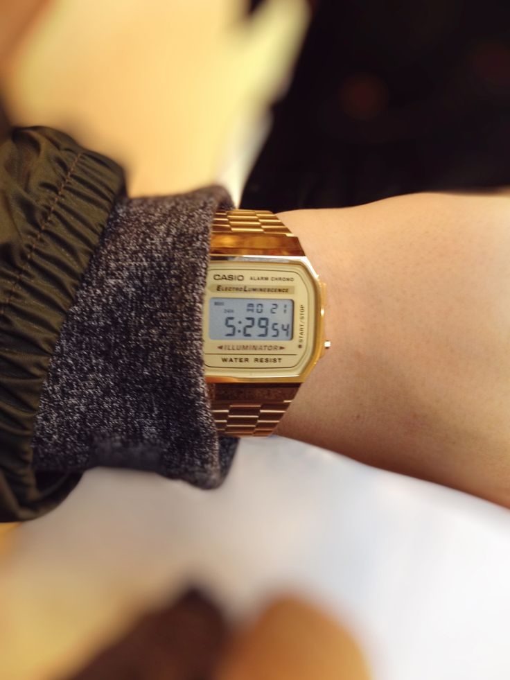 time to get a watch! Casio Gold Face Watch- absolutely in love!! I love the retro-vintage affect it gives and it's super practical