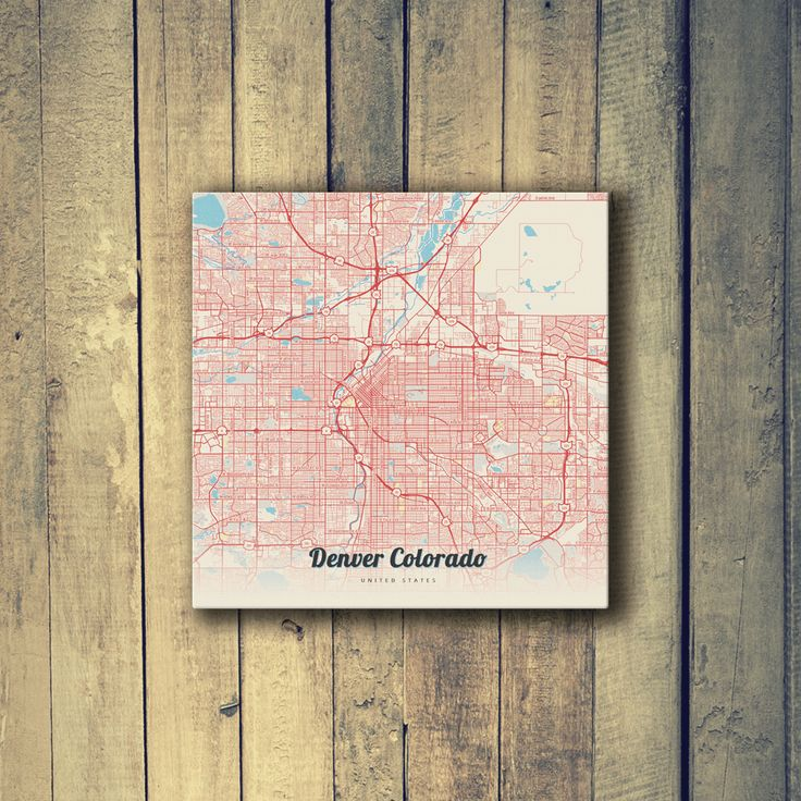 Houston Judgemental Map%0A Gallery Wrapped Map Canvas of Denver Colorado  Lobster Retro  Denver Map  Art