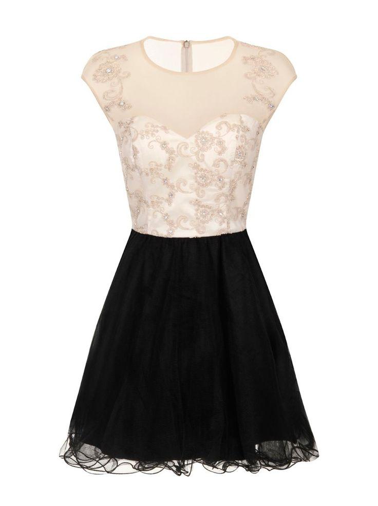 #bicolor #dress #white #black on www.shoppingromania.com