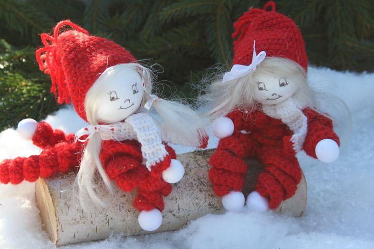 Jut en Jul. Deense kerst poppetjes uit Inhaken op de Feestdagen