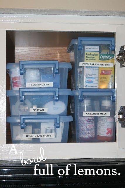 .: Organizations Ideas, First Aid, Medicine Cabinets, Firstaid, Cabinets Organizations, Organizations Medicine, Get Organizations, Linens Closet, Medicine Organization