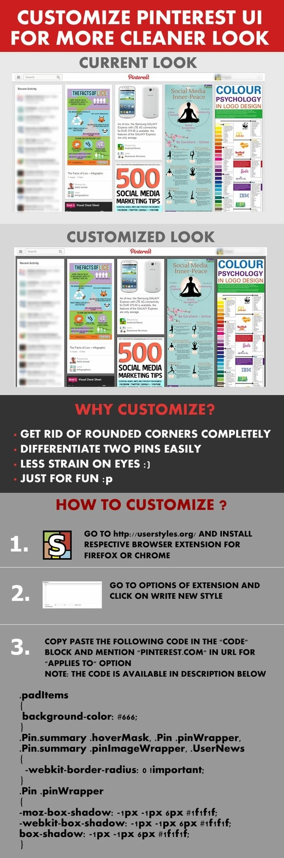 Customize Pinterest for better