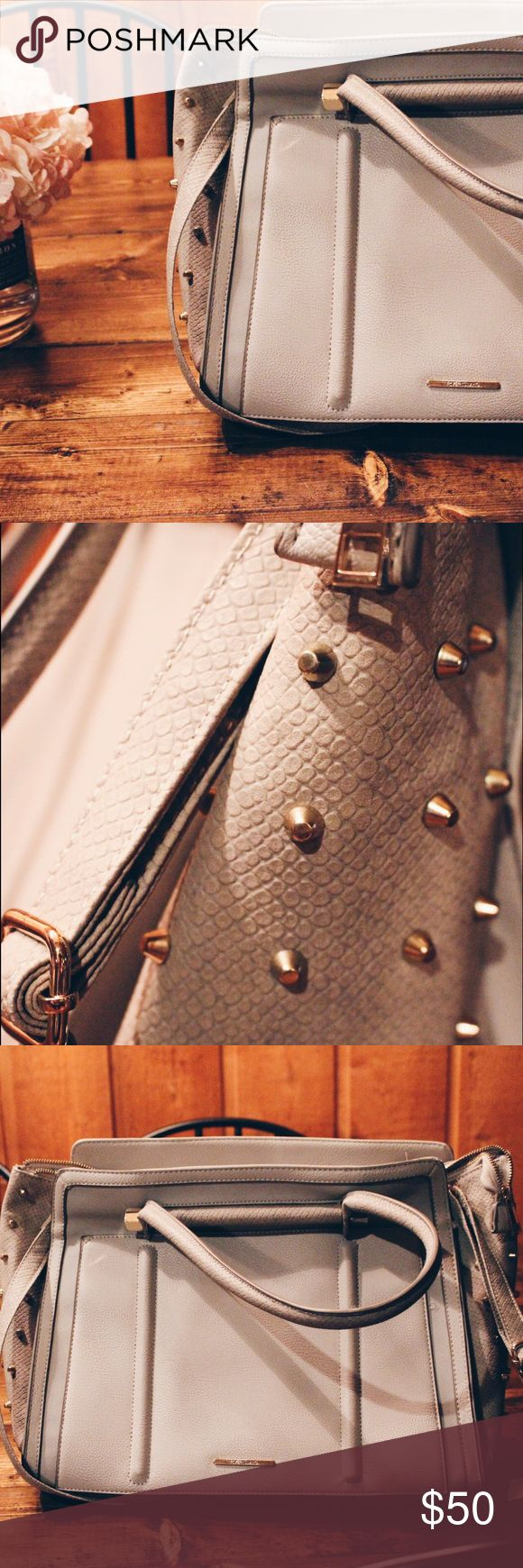 River Island Raised Studded Tote This tote from River Island Is the perfect statement piece with it's fun gold studs. River Island Bags Totes