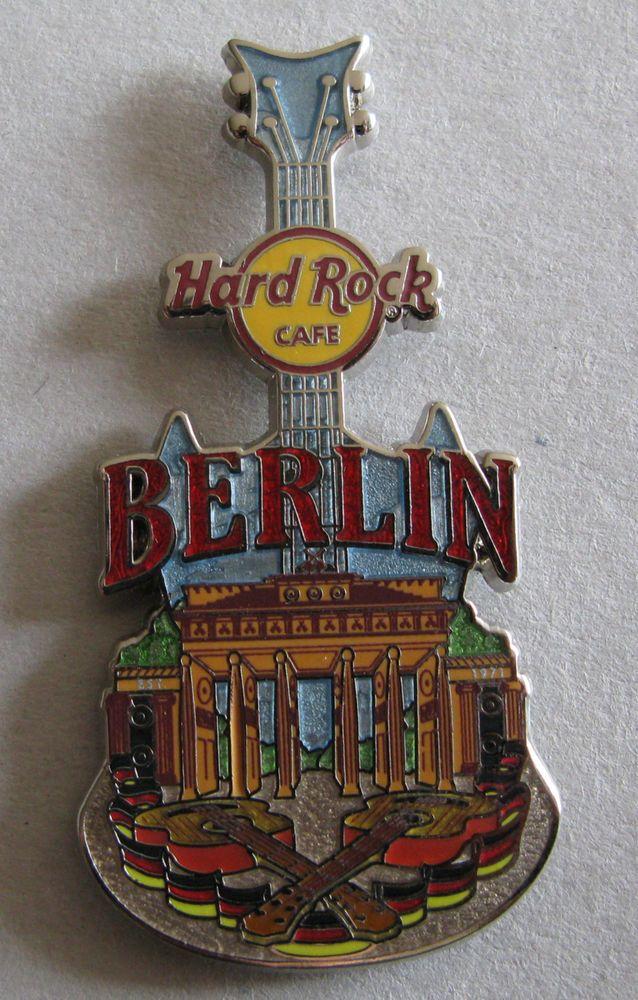 Hard Rock Berlin City Tee Guitar Pin 2014 | eBay