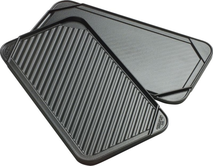 Can't get outside? You can still grill it with Reversible Double Griddle in Griddles, Grill Pans | Crate and Barrel