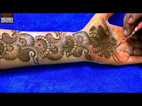 Learn Easiest Henna Mehndi Design | Step by Step Mehendi Designs for Hand | MehndiArtistica - YouTube