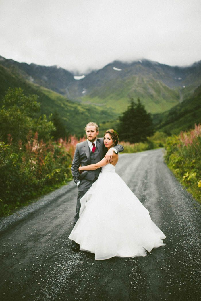Winter Alaska wedding inspiration | Image by Marcie and Shawn Photography