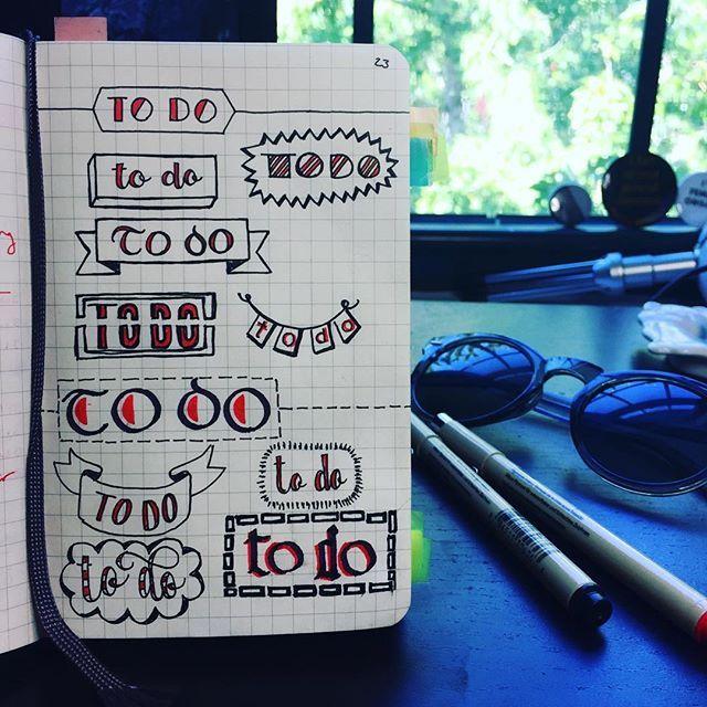 My favorite titles/banners for to-do lists in my bullet journal for #BuJoFriday . . . . .  #calligraphy #calligrapher #calligraphymasters #calligraphyart #typography #handlettering #handlettered #practice #doodles #raquelwrites #design #whatpendidyouuse #bulletjournal #bujo #bujojunkies #bujoweekly #bujoinspire #bujocommunity #todolist #planning