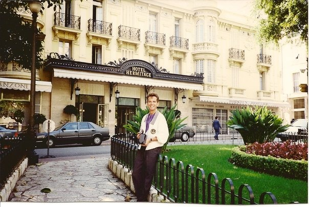 Monaco, Monte Carlo in front of my hotel.