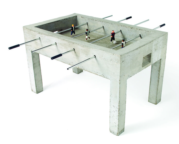 Thoroughly Urban: Jurjen Semeijnu0027s Panna Is A Raw Concrete Foosball Table  Where The Game Is Either Played One On One Or Two Against Two.