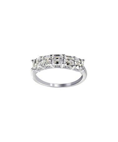 Another great find on #zulily! Cubic Zirconia & Sterling Silver Asscher-Cut Half Eternity Ring #zulilyfinds