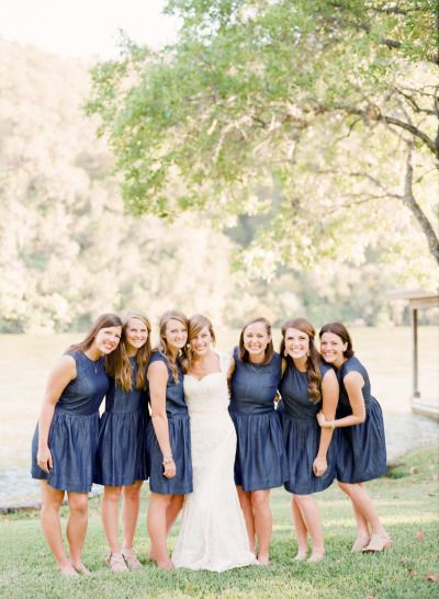 Bridesmaids: http://www.stylemepretty.com/little-black-book-blog/2015/01/20/rustic-elegant-fall-lakeside-wedding/ | Photography: Mint Photo - http://mymintphotography.com/