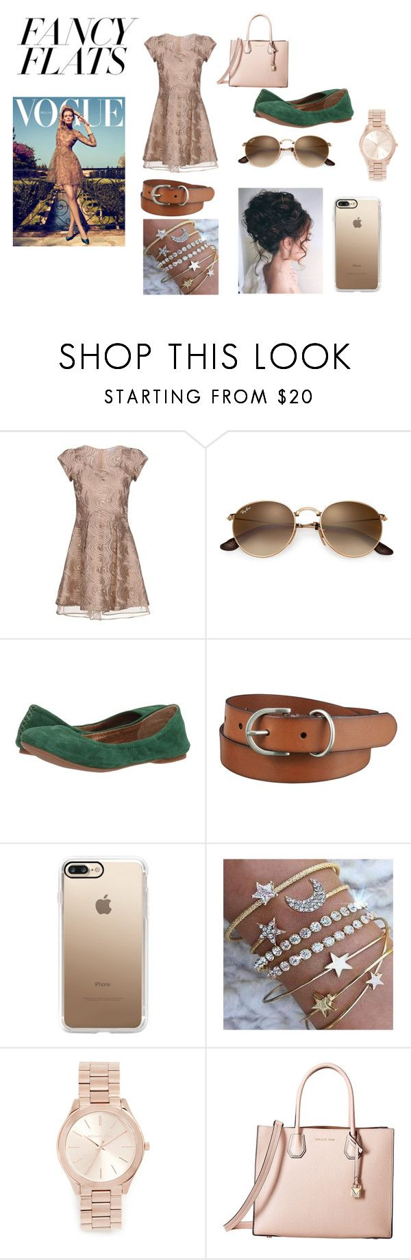 """""""Fancy Flats"""" by itzsarahh on Polyvore featuring Patrizia Pepe, Lucky Brand, Uniqlo, Casetify, Michael Kors, MICHAEL Michael Kors, fashionable, chicflats and fancyflats"""