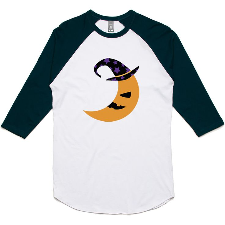 theIndie Halloween Moon 3/4-Sleeve Raglan Baseball T-Shirt