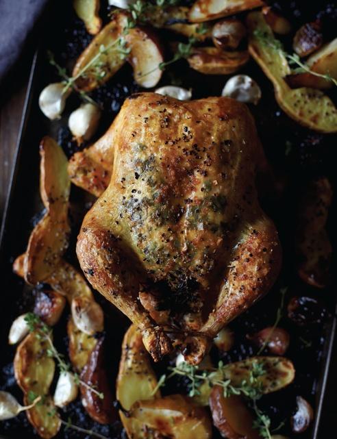 http://www.sweetpaulmag-digital.comSweetpaul, Roast Chicken, Food, Sweets Paul Magazines, Thanksgiving Recipe, Pears Recipe, Sweet Paul, Thyme Roasted Chicken, Fall 2011