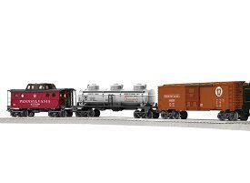 Lionel – Pennsylvania Flyer LionChief Remote Control Steam Set. For any further queries please contact Lionel Customer Support Number @ 586-949-4100-2. Product Features 0-8-0 locomotive and tender 3 dome Tank Car Boxcar and caboose Train chief Remote
