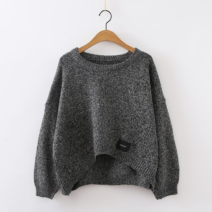 PEONFLY Women Pullover and Sweaters Oneck Knitwear Korean Sweater and PulloverIrregular sueter mujer ugly christmas sweater. Click visit to buy