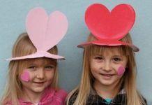 Παιδική κατασκευή : Φτιάξτε μ ένα χάρτινο πιάτο, ένα καπέλο για τον Άγιο Βαλεντίνο!