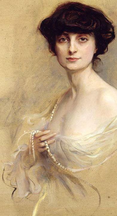 Anna De Noailles By Philip Alexius De Laszlo - Poétesse et romancière française - 1876-1933 - Première femme Commandeure de la légion d'honneur - L'Académie française crée un prix à son nom