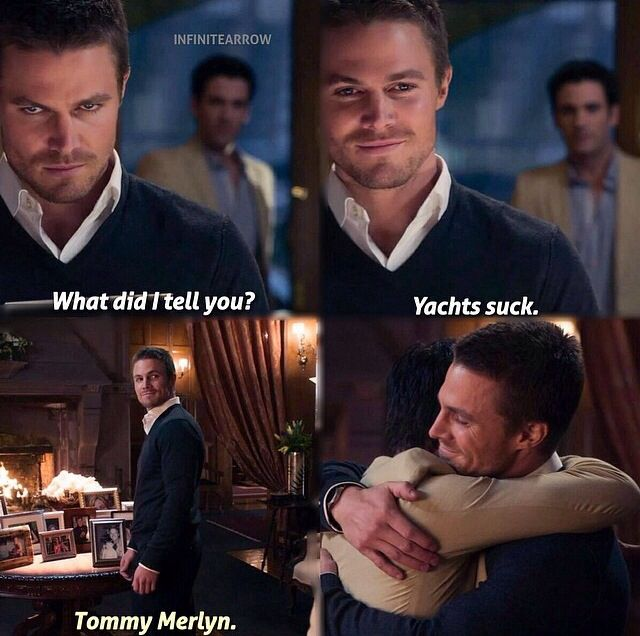 1x01 Pilot - What did I tell you, yachts suck. - Tommy and Oliver, Arrow - I still miss Tommy so much :'(