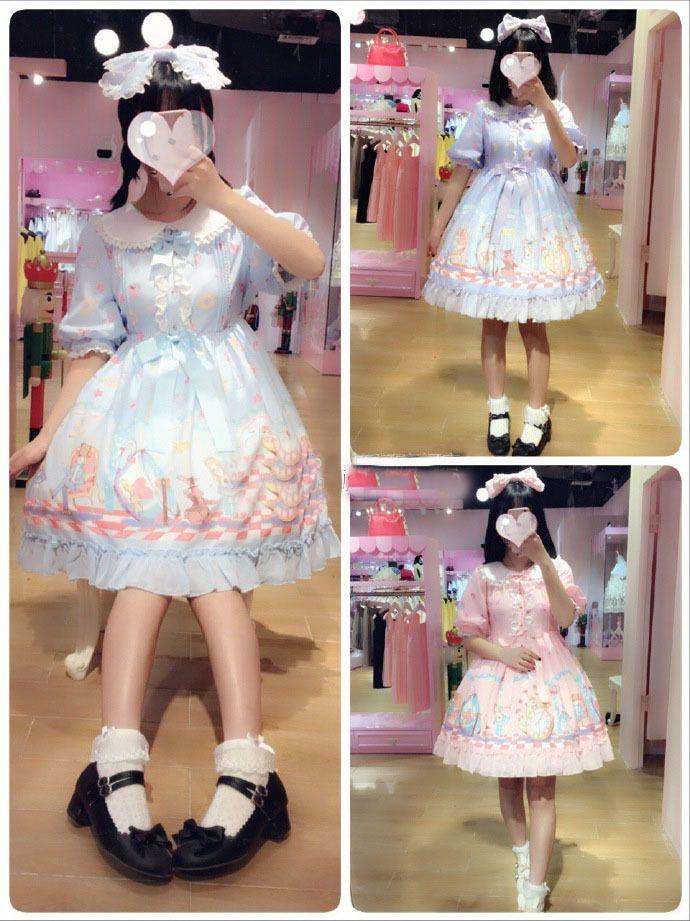 Cheap Doll Collar Half Sleeve Lolita Dress Sale At Lolita Dresses Online Shop