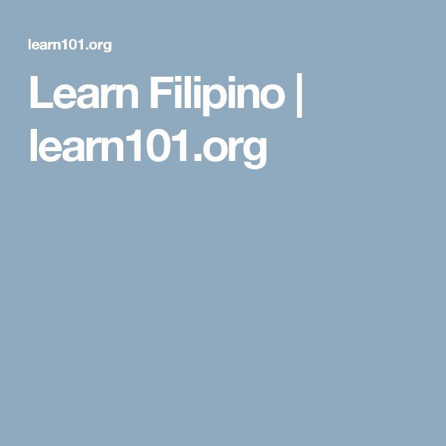 Learn Filipino | learn101.org