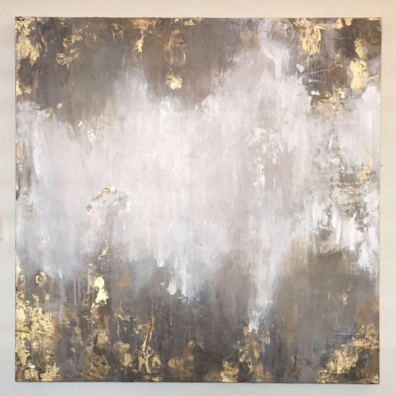 Abstract Acrylic painting with gold accents and texture. Please do not purchase this listing, just convo me and Ill set up a custom listing with your