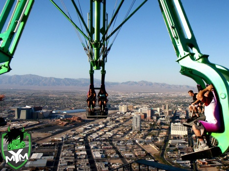 At the top of the highest building in Las Vegas ...